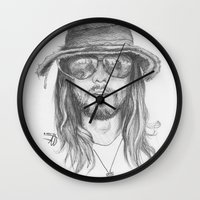 jared leto Wall Clocks featuring Jared Leto by alexandraverena