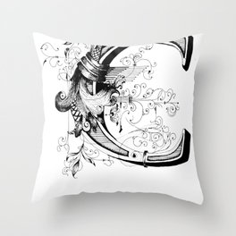 Monogram _C Throw Pillow