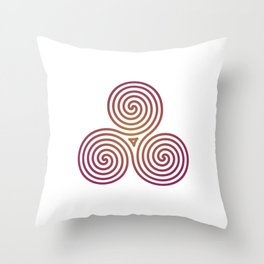 St. Patrick's Day Celtic Red Triskelion #2 Throw Pillow