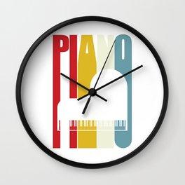 Grand Piano Retro 70s 80s Clavier Pianist Gift Wall Clock