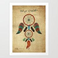 dream catcher Art Prints featuring DREAM CATCHER by Heaven7