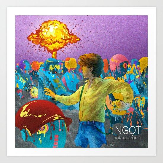 882ccb8a3f25 Single Art - Dystopian Androids Traffic Jam Art Print by phuongqnguyen
