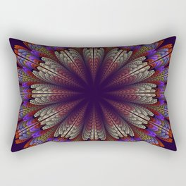 Floral mandala with tribal patterns in the petals Rectangular Pillow