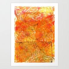 Golden leaving Art Print