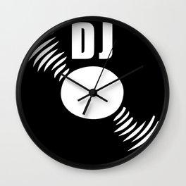 Dj record music logo Wall Clock