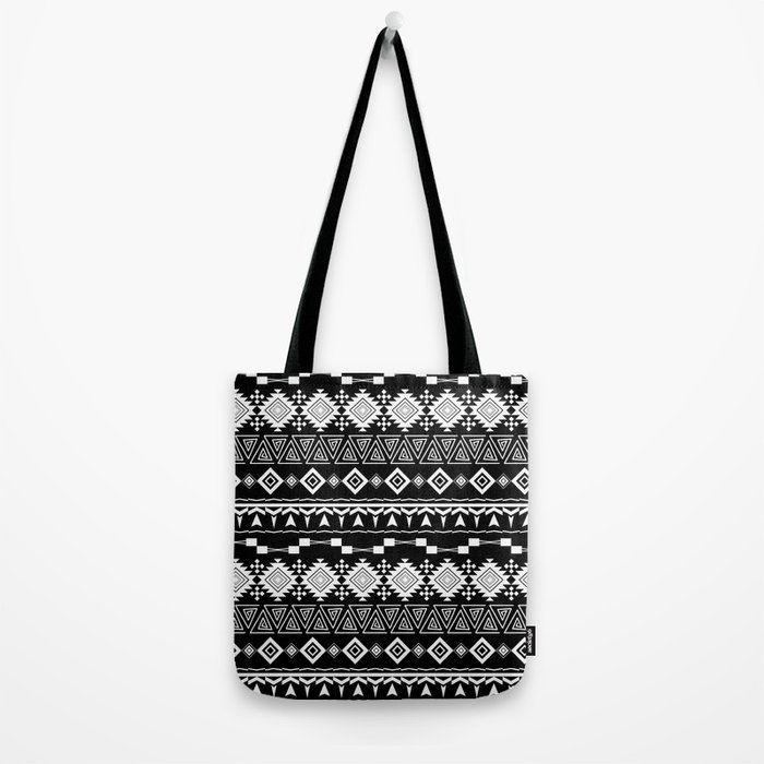 Aztec black and white pattern. Tote Bag