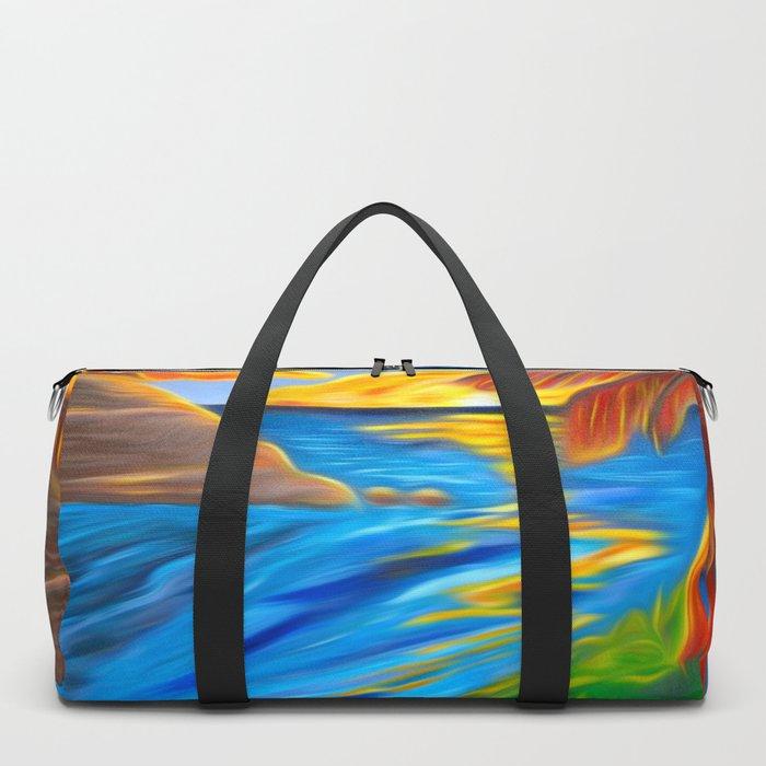 Palm Island Sunrise Duffle Bag