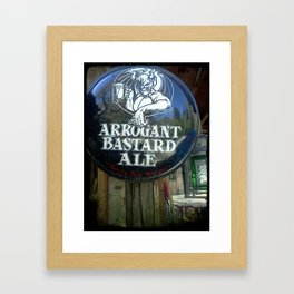 Your not worthey  Framed Art Print