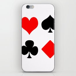 poker card figures iPhone Skin