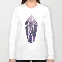 geode Long Sleeve T-shirts featuring Amethyst Gem Dreams by Leah Flores