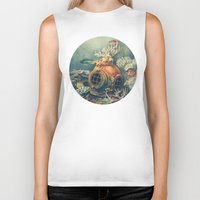 nautical Biker Tanks featuring Seachange by Terry Fan