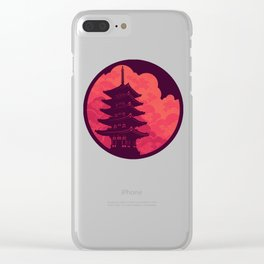 Pagoda Sunset Clear iPhone Case