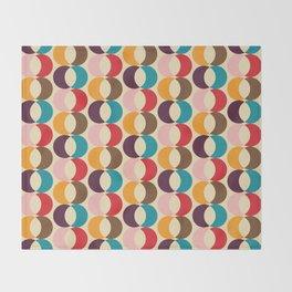 Mid Century Modern Circles Throw Blanket