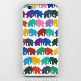 kissing elephants iPhone Skin