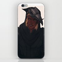 crow iPhone & iPod Skins featuring Crow by audelade
