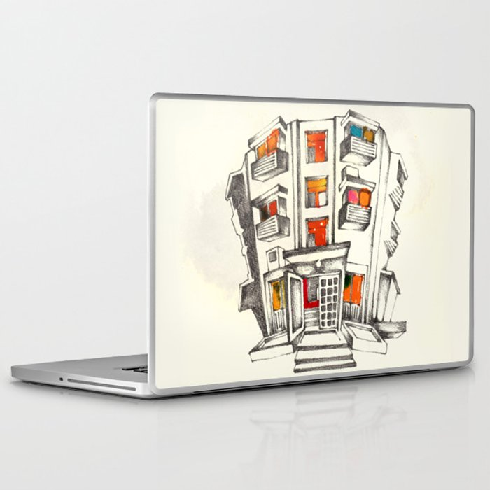 Japanese building Laptop & iPad Skin