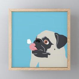 Pug Butterfly Flat Graphic Framed Mini Art Print