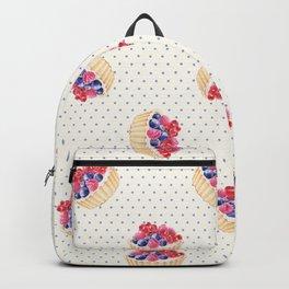 Vintage lavender pink ivory polka dots berries pie pattern Backpack