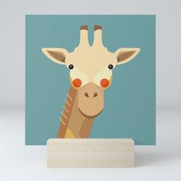 Giraffe, Animal Portrait Mini Art Print