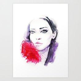Fashion portrait Art Print