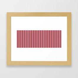 Striped Ahoy Red Framed Art Print