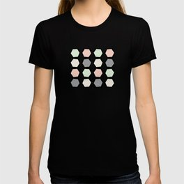 Wonky Pastel Honeycomb T-shirt