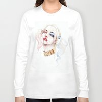 harley quinn Long Sleeve T-shirts featuring Harley Quinn by Tyler Revenant