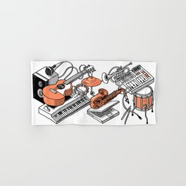 Musical Instruments Hand & Bath Towel