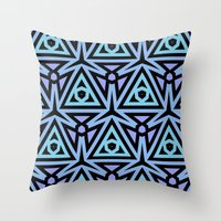 technology Throw Pillows featuring Alien Technology by Lyle Hatch