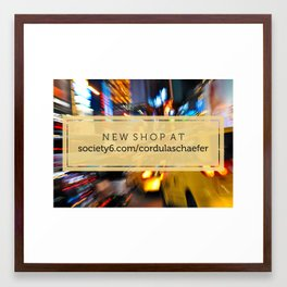 New shop! Framed Art Print