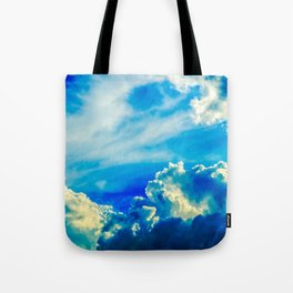 Dramatic Stormy Clouds In The Windy Sky Tote Bag