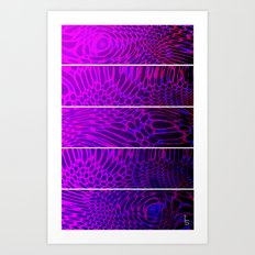 Bio Rhythm I (Five Panels Series) Art Print