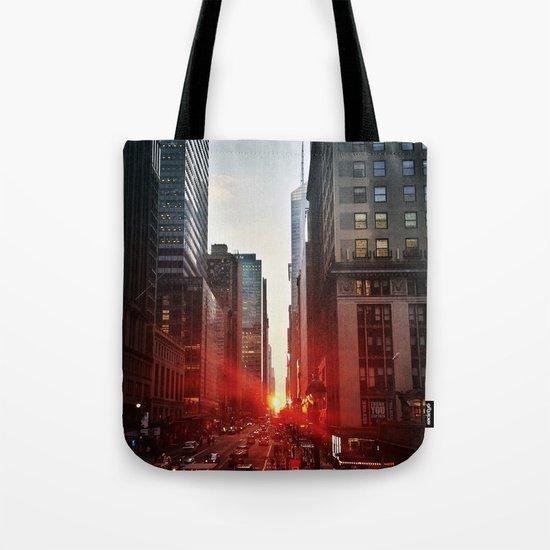 manhattan sunset 6 Tote Bag