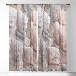 Xian Terracotta Warriors Sheer Curtain