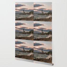 Annisquam Lighthouse sunset Wallpaper