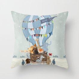 little adventure days Throw Pillow