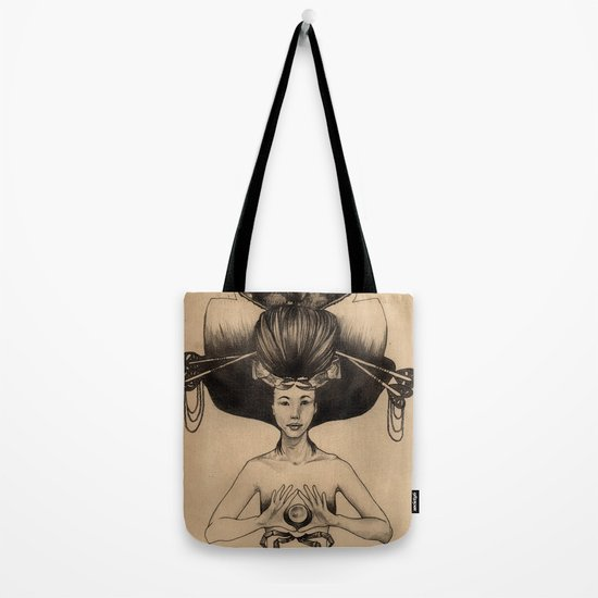 CANCER - Black and White Version Tote Bag
