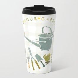 How Does Your Garden Grow? Metal Travel Mug