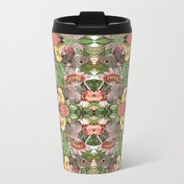Bunny Cockatoo Kaleidoscope Metal Travel Mug