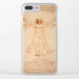 Vitruvian Man Clear iPhone Case