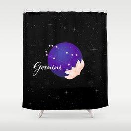 Gemini Stars Shower Curtain