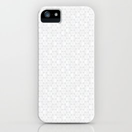 Modern Minimal Hexagon Pattern in Silver Gray and White iPhone Case