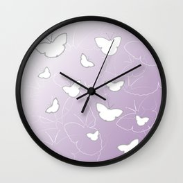 Butterflies | lilac color Wall Clock