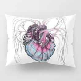 Butterfly Heart Blue Pillow Sham