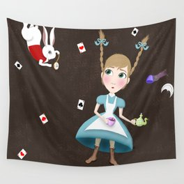 Falling into a Land of Wonder Wall Tapestry