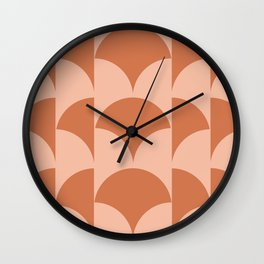 Cleo Pattern - Sunset Wall Clock