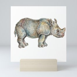 Rhinoceros Mini Art Print