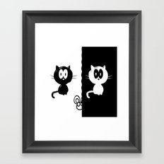 Catch the mouse Framed Art Print