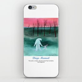 Oso polar y conejo por Diego Manuel. iPhone Skin