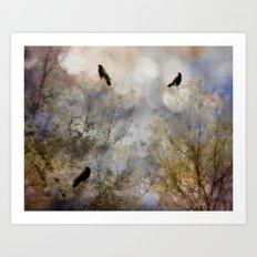 Crow Bling Art Print